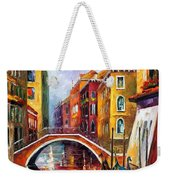 Venice Bridge Weekender Tote Bag