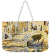 Venice. Bridge With Figures  Weekender Tote Bag