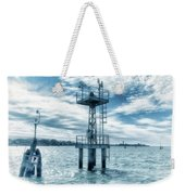 Venice - Buoy And Mooring In The Lagoon Weekender Tote Bag