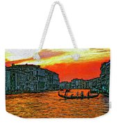 Venice Eventide Impasto Weekender Tote Bag