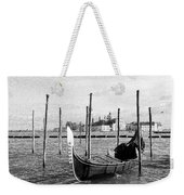 Venice. Gondola. Black And White. Weekender Tote Bag