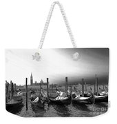 Venice Gondolas Black And White Weekender Tote Bag