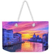 Venice Grand Canal At Sunset Weekender Tote Bag