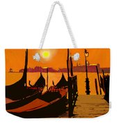 Venice In Orange Weekender Tote Bag