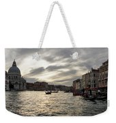 Venice Italy - Pearly Skies On The Grand Canal Weekender Tote Bag