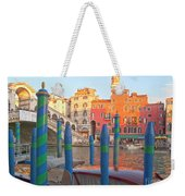 Venice Rialto Bridge Weekender Tote Bag