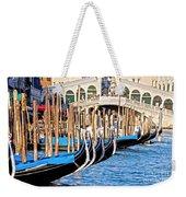 Venice Sunny Rialto Bridge Weekender Tote Bag