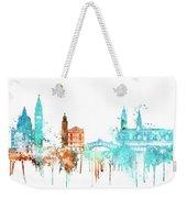 Venice Watercolor Skyline Weekender Tote Bag