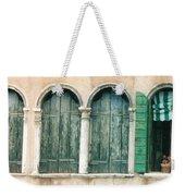 Venice Window Flower Pot Weekender Tote Bag