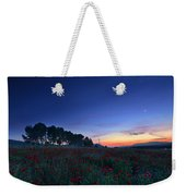 Venus And Moon Over Spring Poppies Weekender Tote Bag