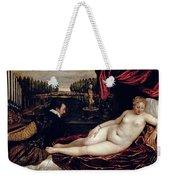 Venus And The Organist Weekender Tote Bag by Titian