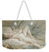 Venus Playing With Two Doves Weekender Tote Bag