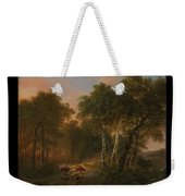 Verboeckhoven  Eugene   Forest Landscape With Animals Weekender Tote Bag