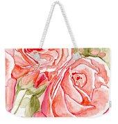 Vermilion Pink Roses Weekender Tote Bag