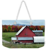 Vermont Cows At The Barn Weekender Tote Bag