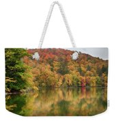 Vermont Fall Foliage Reflected On Pogue Pond Weekender Tote Bag