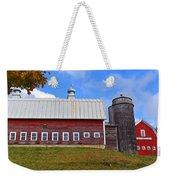 Vermont Farm Woodstock Vt Red Barn Weekender Tote Bag