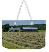 Vermont Farmhouse With Hay Weekender Tote Bag
