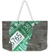Vermont License Plate Map Art Edition 2017 Weekender Tote Bag