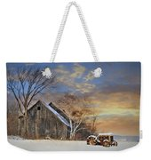Vermont Sunset Weekender Tote Bag