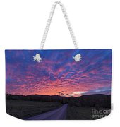 Vermont Sunset Weekender Tote Bag