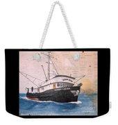 Verna Jean Fishing Boat Nautical Chart Map Weekender Tote Bag