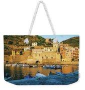 Vernazza, Italy, At Sunset Weekender Tote Bag