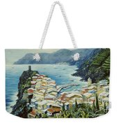 Vernazza Cinque Terre Italy Weekender Tote Bag by Marilyn Dunlap