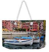 Vernazza Fishing Boats Weekender Tote Bag