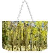 Vertical Aspen Forest Weekender Tote Bag