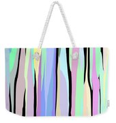 Vertical Coloration Weekender Tote Bag