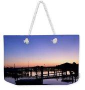 Vertical Pre-dawn Stillness At The Marina 13670 Weekender Tote Bag