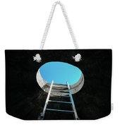 Vertical Step-ladder On Ceiling Window  Weekender Tote Bag