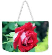 Very Dewy Rose Weekender Tote Bag
