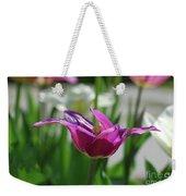 Very Pretty Blooming Purple Tulip With Spikey Petals Weekender Tote Bag