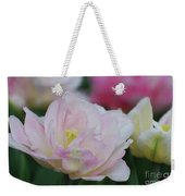 Very Pretty Pale Pink Parrot Tulip Flower Blossom Weekender Tote Bag