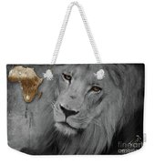 Very Sad Lion, Cry For Africa Weekender Tote Bag