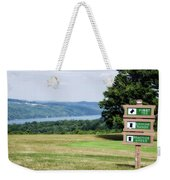 Vesper Hills Golf Club Tully New York 1st Tee Signage Weekender Tote Bag