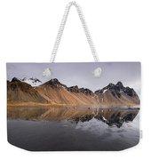 Vestrahorn Mountain In Stokksnes Iceland Weekender Tote Bag