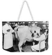 Vets Give Cow A Physical Weekender Tote Bag