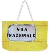 Via Nazionale Weekender Tote Bag