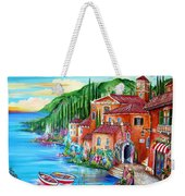 Via Positano By The Lake Weekender Tote Bag