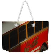 Via San Antonio Trolley Weekender Tote Bag