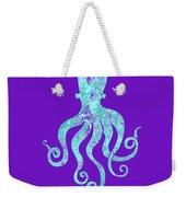 Vibrant Blue Octopus Beach House Coastal Art Weekender Tote Bag