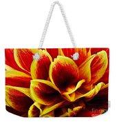 Vibrant Dahlia Petals Weekender Tote Bag