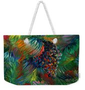 Vibrant Grapes Weekender Tote Bag by Nadine Rippelmeyer