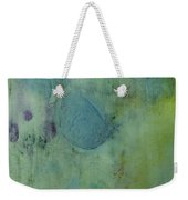 Vibrant Green Abstract Ink Design Weekender Tote Bag