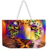 Vibrant Leopard Painting Weekender Tote Bag