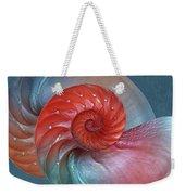 Vibrant Nautilus Pair - Horizontal Weekender Tote Bag