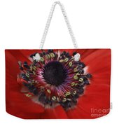 Vibrant Red Weekender Tote Bag